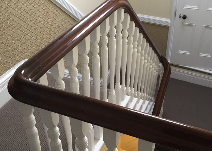 French Polished handrail