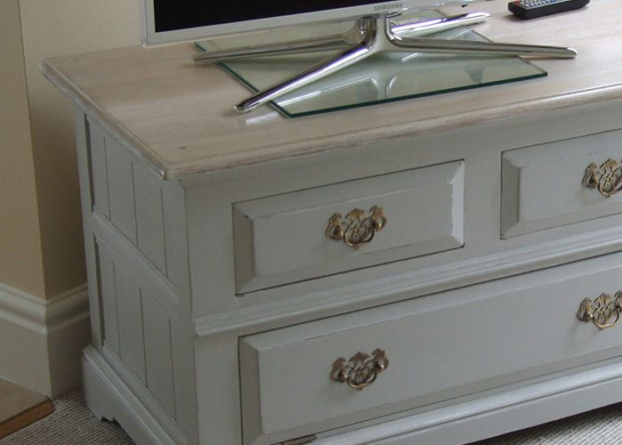 Hand painted TV cabinet