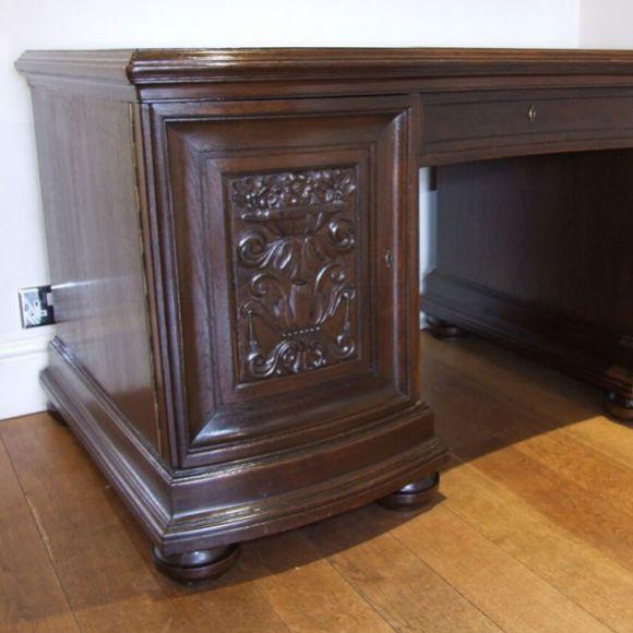 French polished desk
