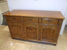 French polished oak sideboard
