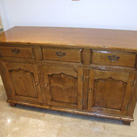 French polished oak sideboard